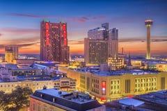 San Antonio, il Texas, orizzonte di U.S.A. fotografie stock libere da diritti