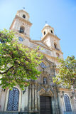 San Antonio kyrktar, placerade i plazaen San Antonio, som är lurar Royaltyfria Foton