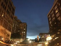 San Antonio nachts Lizenzfreies Stockbild