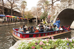 San Antonio River Walk boat tour Royalty Free Stock Image