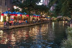 San Antonio Riverwalk, Τέξας Στοκ Φωτογραφίες