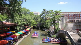 San Antonio Riverwalk stock footage