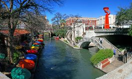 San Antonio Riverwalk Stock Afbeelding