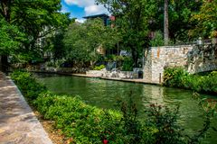 San Antonio Riverwalk kanał obraz royalty free