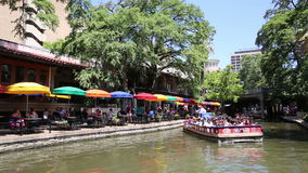 San Antonio Riverwalk stock video footage