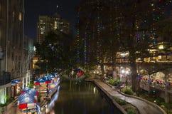 Riverwalk during the holidays royalty free stock photos