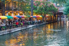 San Antonio Riverwalk, Texas stock afbeeldingen