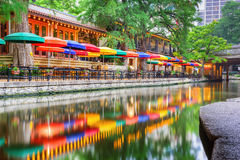 San Antonio Riverwalk. San Antonio, Texas, USA cityscape at the Riverwalk stock image