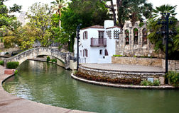 San Antonio Riverwalk Theater. San Antonio Riverwalk Arneson River Theater part of the La Villta historical complex stock images
