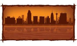 San Antonio skyline Stock Illustration