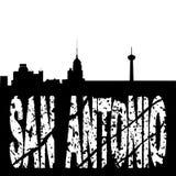San Antonio skyline grunge text. San Antonio skyline with grunge text illustration stock illustration