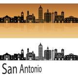 San Antonio skyline in orange. Background in editable vector file vector illustration