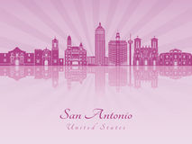 San Antonio skyline in purple radiant orchid Stock Photography