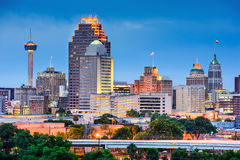 San Antonio Skyline. San Antonio, Texas, USA skyline royalty free stock photos