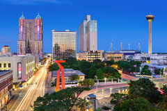 San Antonio Skyline. San Antonio, Texas, USA downtown skyline stock image