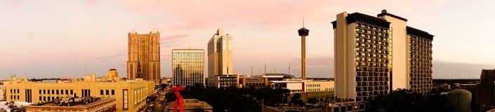 San Antonio Skyline Wide Panoramic South Cantral Tejas fotos de archivo
