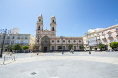San Antonio Square, Cadiz, Spain.  stock photo