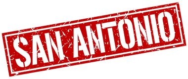 San Antonio stamp. San Antonio square grunge sign isolated on white. San Antonio stock illustration