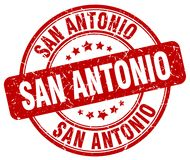 San Antonio stamp. San Antonio round grunge stamp isolated on white background. San Antonio vector illustration