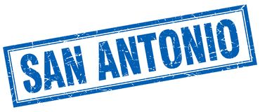 San Antonio stamp. San Antonio square grunge stamp. San Antonio sign. San Antonio royalty free illustration