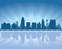 San Antonio Texas city skyline silhouette. San Antonio Texas city skyline Background vector illustration vector illustration