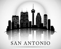 San Antonio Texas city skyline silhouette Stock Photography