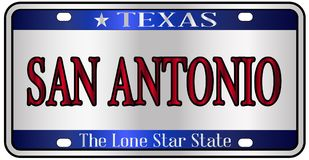 San Antonio Texas License Plate illustration libre de droits