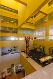 SAN ANTONIO, TEXAS - MATCH 26, 2018 - San Antonio Central Library lobby with glass sculpture `Fiesta Tower` designed by Dale Chihu. Ly stock photos