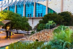 SAN ANTONIO, TEXAS - NOVEMBER 10, 2017: The Henry B. González Convention Center is the City of San Antonio`s convention center lo royalty free stock photos