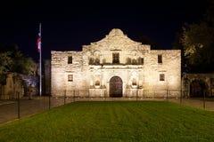 SAN ANTONIO, TEXAS - NOVEMBER 27, 2017 - vooraanzicht van Alamo royalty-vrije stock afbeelding