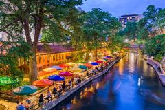 San Antonio, Texas, USA. Cityscape at the River Walk stock photography