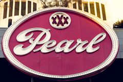 SAN ANTONIO, TEXAS, USA - NOVEMBER 2, 2018 - Close up of the Pearl District sign. The Pearl is a culinary and cultural destination stock images