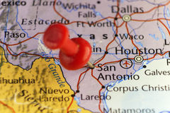 San Antonio Texas USA pinned map Royalty Free Stock Image