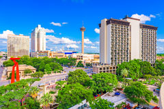 San Antonio, Texas, USA Skyline. San Antonio, Texas, USA downtown cityscape royalty free stock image