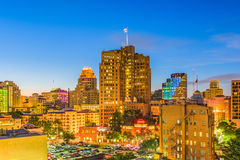 San Antonio, Texas, USA Skyline. San Antonio, Texas, USA downtown cityscape at twilight stock photos