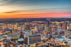 San Antonio, Texas, USA Skyline. At dusk royalty free stock photo