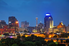 San Antonio, TX cityscape. In the evening stock image