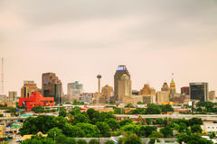 San Antonio, TX cityscape. In the evening Royalty Free Stock Photography