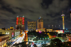 San Antonio-Vogelperspektive Lizenzfreies Stockfoto