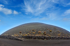San Antonio volcano from Teneguia in La Palma Stock Photo