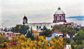 San Antonio White Church San Miguel de Allende Mexico Royalty Free Stock Photo