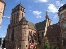 San anziano Peters Church a Strasburgo fotografie stock libere da diritti