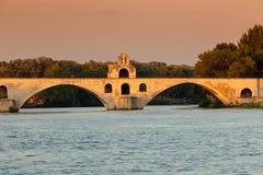 San-Bénezet del ponte, Avignone, Francia immagini stock