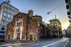 San Babila Church, Milan stock photos