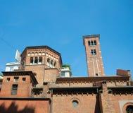 San Babila kościół, Mediolan, Włochy (1095) Obrazy Royalty Free