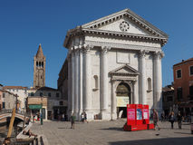 San Barnaba church in Venice Stock Photo
