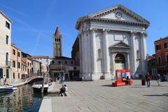 San Barnaba kościół w Wenecja, Włochy zdjęcie stock