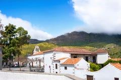 San Bartolome de Tirajana. Gran Canaria. Spain. View of houses of San Bartolome village in mountains. Gran Canaria royalty free stock photos