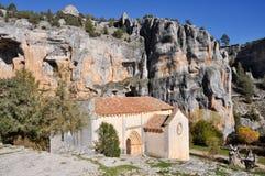 San Bartolome Hermitage, Soria (Spain). San Bartolome Hermitage, Lobos river Canyon, Soria (Spain Royalty Free Stock Photos