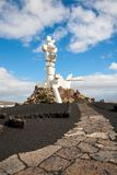 Campesino or fertility monument, Lanzarote, Canary Islands stock photo